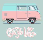 Vectorillustratie leuke roze auto stock afbeelding