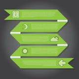 Vectorillustratie, Lintbanner voor het Ontwerpwerk Stock Fotografie