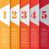 Vectorillustratie, Malplaatje voor Presentatie Stock Fotografie