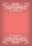 Vectorillustratie - Marsala abstracte achtergrond met glanzende ornamenten Stock Afbeeldingen