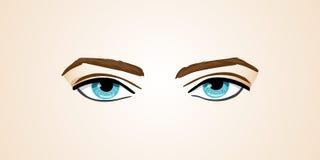 Vectorillustratie menselijke ogen op Geïsoleerde achtergrond Stock Fotografie