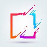 Vectorillustratie met Abstract Kleurrijk Vierkant Royalty-vrije Stock Afbeeldingen