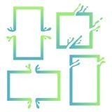 Vectorillustratie met Abstract Kleurrijk Vierkant Abstracte plons, vloeibare vorm Achtergrond voor affiche, dekking, banner Royalty-vrije Stock Afbeelding