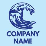 Vectorillustratie met blauwe oceaangolf Royalty-vrije Stock Foto