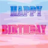 Vectorillustratie met Gelukkige Verjaardagswoorden op een mooie mul royalty-vrije illustratie
