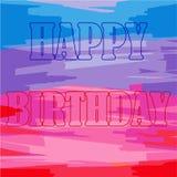 Vectorillustratie met Gelukkige Verjaardagswoorden op een mooie mul vector illustratie