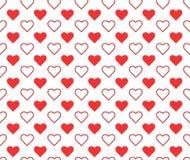 Vectorillustratie met harten Abstract leuk naadloos patroon stock illustratie