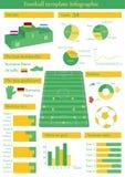 Vectorillustratie met infographic voetbal Stock Foto