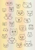 Vectorillustratie met katten Stock Foto's