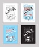 Vectorillustratie met motivationg inspirational citaat over liefde aan heemst Stock Foto's