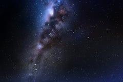 Vectorillustratie met nacht sterrige hemel en melkachtige manier royalty-vrije illustratie