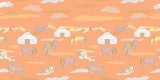 Vectorillustratie met paarden vector illustratie