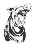 Vectorillustratie met varkenshoofd Royalty-vrije Stock Foto