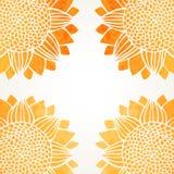 Vectorillustratie met waterverfzonnebloemen royalty-vrije illustratie