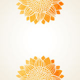 Vectorillustratie met waterverfzonnebloemen stock illustratie