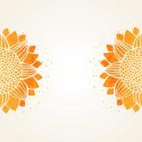 Vectorillustratie met waterverfzonnebloemen vector illustratie