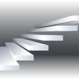 Vectorillustratie met zwart-witte treden op dreyachtergrond Stock Afbeeldingen
