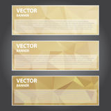 Vectorillustratie, Moderne Banner voor het Creatieve Werk Stock Afbeeldingen