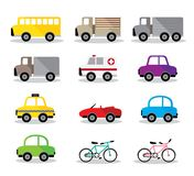 Vectorillustratie naast model vele auto stock illustratie