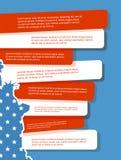 Vectorillustratie, Onafhankelijkheidsdag van het Ontwerp van Amerika Royalty-vrije Stock Afbeeldingen