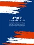 Vectorillustratie, Onafhankelijkheidsdag van het Ontwerp van Amerika Royalty-vrije Stock Afbeelding