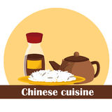 Vectorillustratie op Chinees voedselthema Royalty-vrije Stock Afbeelding