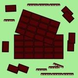 Vectorillustratie op een thema van de Dag van de Wereldchocolade stock fotografie