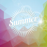 Vectorillustratie op een thema van de de zomervakantie Royalty-vrije Stock Foto's