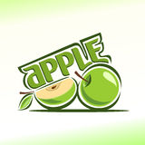 Vectorillustratie op het thema van appel Stock Afbeelding