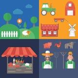 vectorillustratie op landbouwbedrijfthema Stock Fotografie