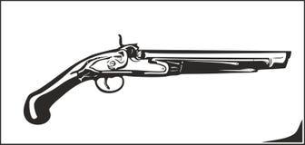Vectorillustratie oud flintlock geweer Royalty-vrije Stock Foto's
