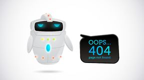 Vectorillustratie, 404 paginaontwerp vector illustratie