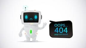 Vectorillustratie, 404 paginaontwerp royalty-vrije illustratie