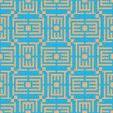 Vectorillustratie of raadsel geometrisch naadloos patroon Eenvoudige regelmatige achtergrond Stock Foto's