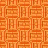 Vectorillustratie of raadsel geometrisch naadloos patroon Eenvoudige regelmatige achtergrond Stock Afbeeldingen