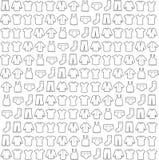 Vectorillustratie, schetsachtergrond, stof Royalty-vrije Stock Afbeeldingen
