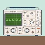 Vectorillustratie van één oscilloscoop Stock Afbeeldingen