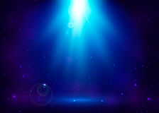 Vectorillustratie van abstracte blauwe magische lichte achtergrond Stock Afbeelding