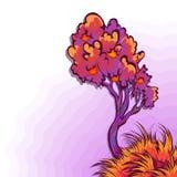 Vectorillustratie van appelboom Royalty-vrije Stock Foto