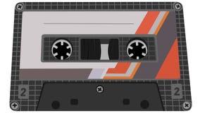 Vectorillustratie van bandcassette. Stock Afbeelding