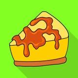 Vectorillustratie van banketbakkerij en culinair embleem Reeks van banketbakkerij en kleurrijk vectorpictogram voor voorraad royalty-vrije illustratie