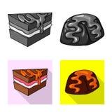 Vectorillustratie van banketbakkerij en culinair embleem Reeks van banketbakkerij en productvoorraad vectorillustratie royalty-vrije illustratie
