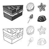 Vectorillustratie van banketbakkerij en culinair symbool Inzameling van banketbakkerij en productvoorraadsymbool voor Web vector illustratie