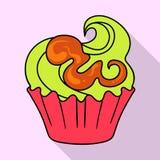 Vectorillustratie van banketbakkerij en culinair teken Inzameling van banketbakkerij en kleurrijk voorraadsymbool voor Web stock illustratie