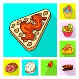 Vectorillustratie van banketbakkerij en culinair teken Inzameling van banketbakkerij en kleurrijke voorraadvector stock illustratie