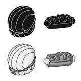 Vectorillustratie van banketbakkerij en culinair teken Inzameling van banketbakkerij en productvoorraadsymbool voor Web stock illustratie