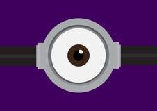 Vectorillustratie van beschermende bril met één oog op purple Stock Afbeeldingen