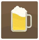 Vectorillustratie van biermok Stock Fotografie