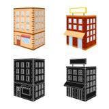 Vectorillustratie van bouw en de bouwpictogram Inzameling van bouw en landgoed vectorpictogram voor voorraad royalty-vrije illustratie