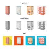 Vectorillustratie van bouw en de bouwpictogram Reeks van bouw en landgoed vectorpictogram voor voorraad royalty-vrije illustratie
